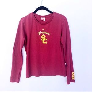Nike USC Trojans Graphic Long Sleeve Tee